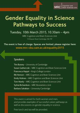 GenderEqualityInScience_poster